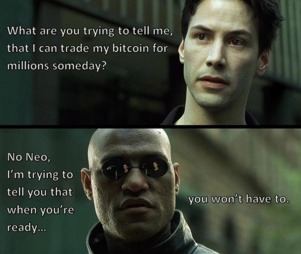 Matrix bitcoin meme
