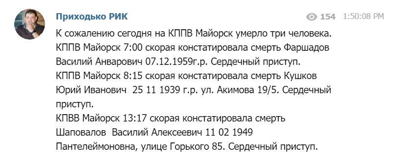 Найманці стверджують, що на КПП під Горлівкою померло троє пенсіонерів - Цензор.НЕТ 2400