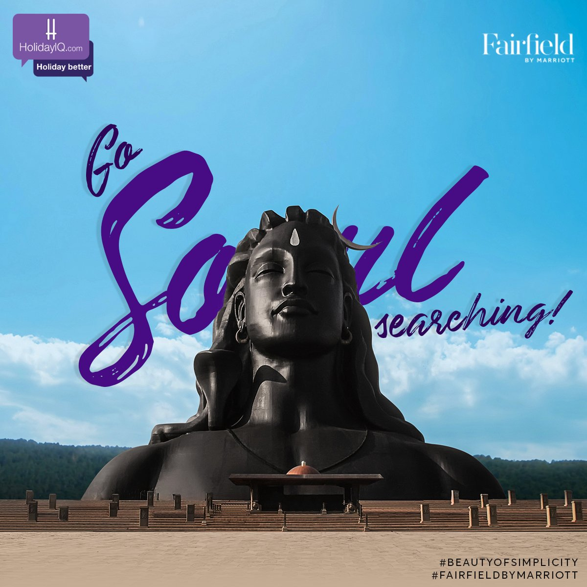 Embark on a spiritual sojourn at the Isha Yoga Center at Coimbatore.  Watch this space to know more.  #BeautyOfSimplicity #FairfieldByMarriott #holidayiq #holidayiqcommunity https://t.co/xd2AAvfx07
