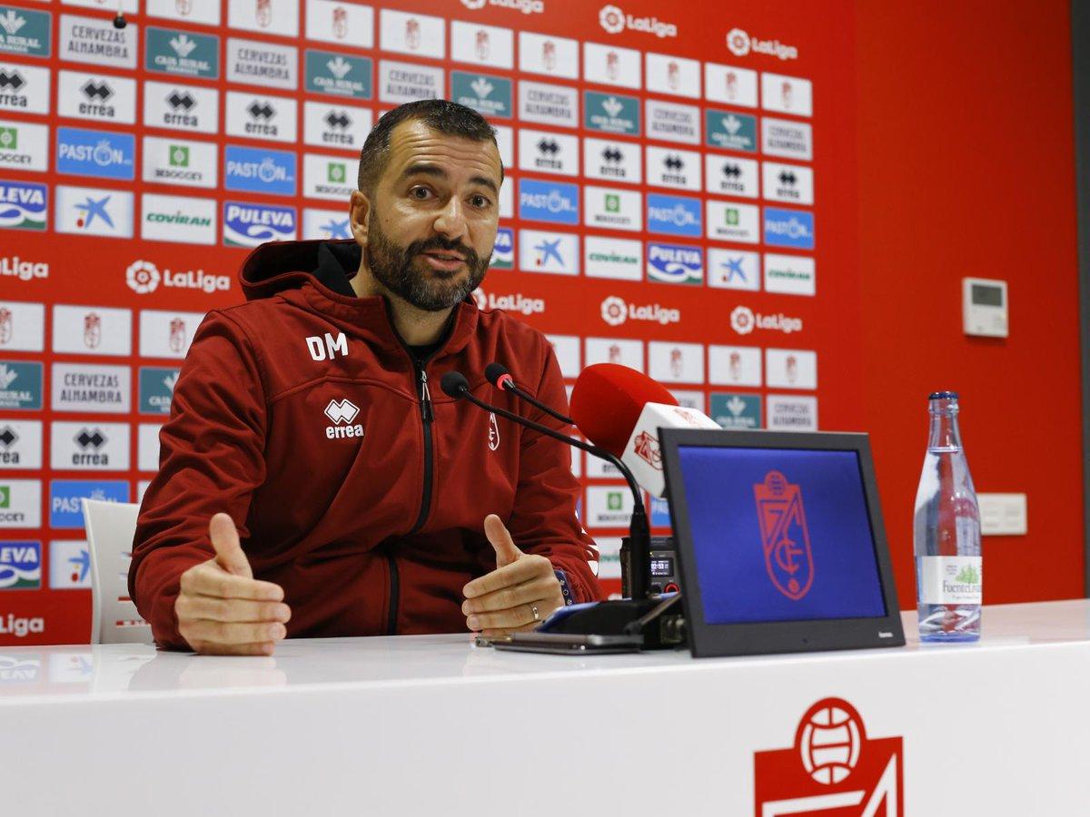 Diego Martínez, en sala de prensa (Foto: GCF).
