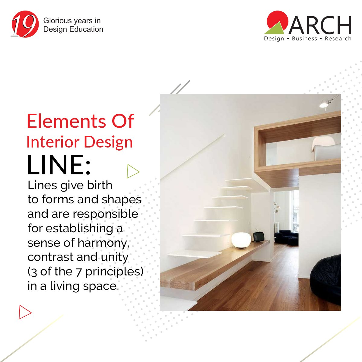 Arch College Of Design Business On Twitter Among The Most Important And Basic 7 Elements Of Interior Designs Lines Defines The Artistic And Psychological Points Of Any Interior Design The Same