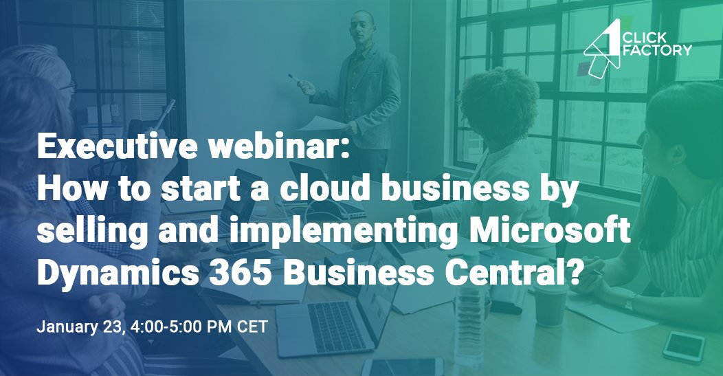 Join our executive webinar on 'How to start a cloud business with Microsoft Dynamics 365 Business Central?' on Jan 23! We'll talk about the effective ways of starting a cloud business to become a leading #ERP SaaS provider. Save your seat https://bit.ly/2slgabU  #MSPartner #cloud