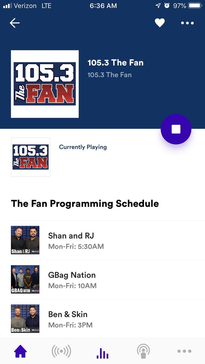 Special shoutout to those turning it on, leaving it on through http://Radio.com. The numbers are in and you're making a HUGE #TOLO difference @1053thefan. Love u 🍻 http://1053thefan.com/live
