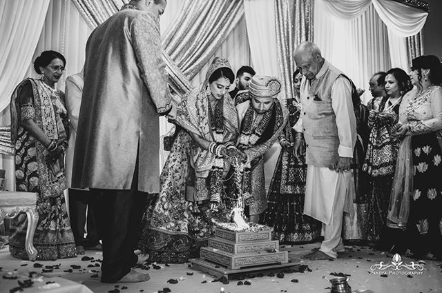 To me, although South Asian weddings are full of radiant hues, I feel as though a beautiful black and white image tells more of a story as it directs your eyes to the emotion and thoughts of the subjects in the photo which at times can be lost among the vibrant splashes of c…
