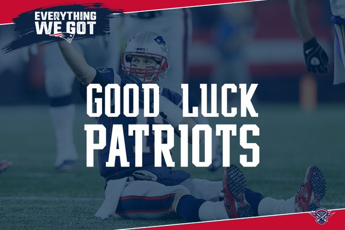 Best of luck to the @patriots as they take on the Chargers at @GilletteStadium today!. #EverythingWeGot | #GoPats Foto
