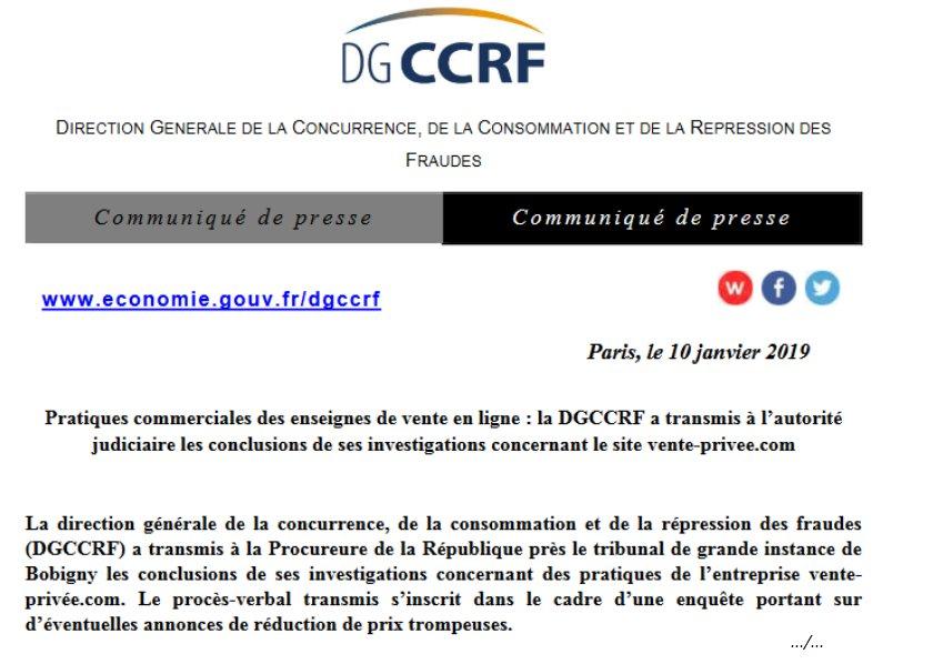 DGCCRF's photo on Vente-privée
