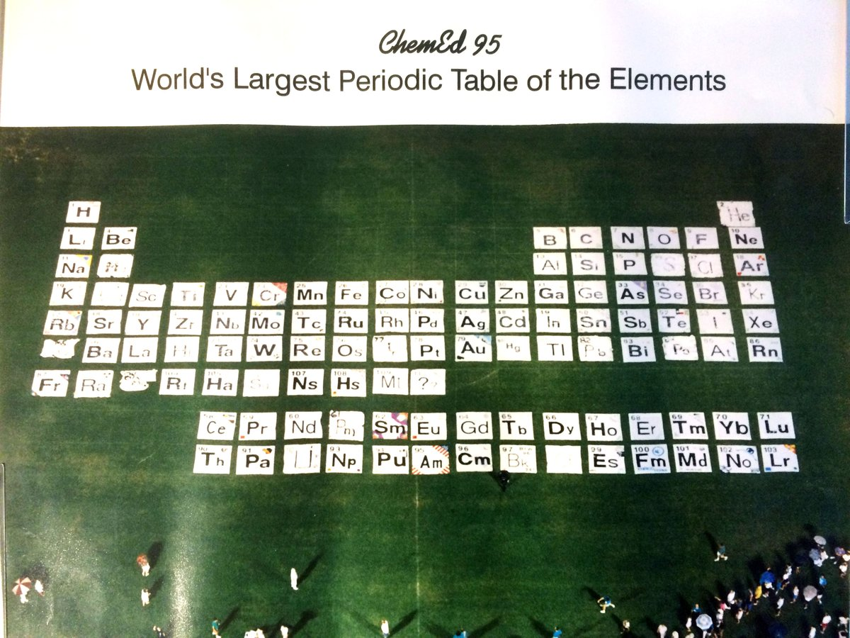 Chem 13 News On Twitter World S Largest Periodic Table From