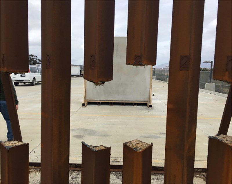 Dept. of Homeland Security testing of a steel slat prototype for border wall proved it could be cut through with a saw, according to a report by DHS.   A photo obtained by @NBCNews shows the results of the test. https://nbcnews.to/2AE45mG