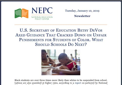 Federal Guidance On Students With >> Nepc On Twitter Ed Secretary Betsydevosed Set Aside Federal