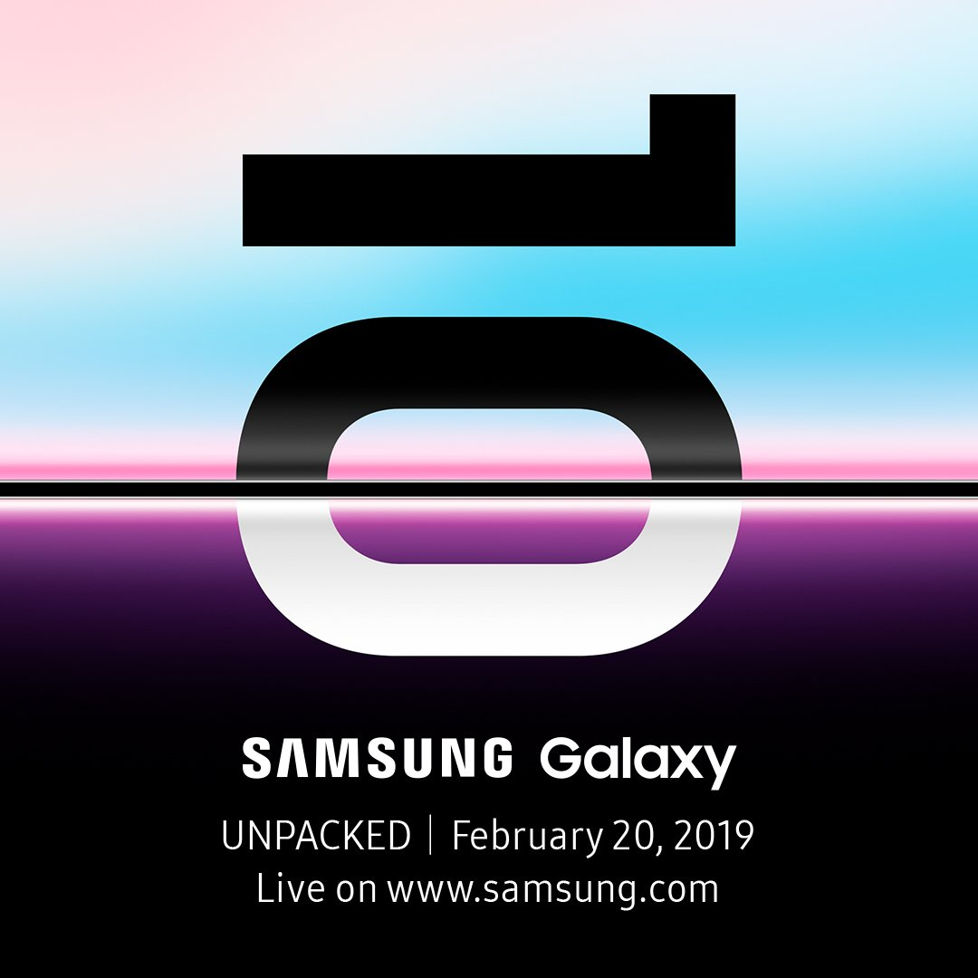 Welcome to the next generation. Galaxy Unpacked on February 20, 2019. #SamsungEvent