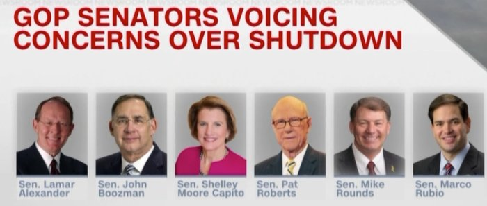 But wait… There's more!  These Republicans are getting fed up with his antics and want him to stop holding our Federal Workers hostage!  @SenAlexander @JohnBoozman  @SenCapito  @SenPatRoberts  @SenatorRounds  @marcorubio   UNITY???  This ain't it chief! 👇