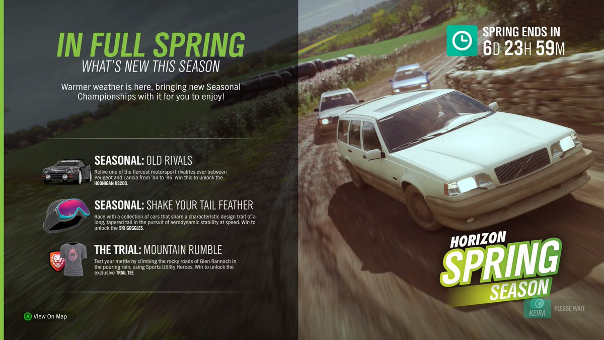 Spring #Forzathon challenges, Shop stock, events, and new cars