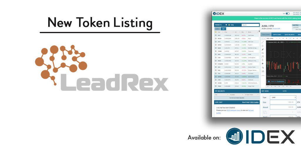 Dear friends!🙋🏼‍♀️ Fantastic news!💥Another long-waited listing is started on AURORA! #IDEX #Ico #Ethereum #Crypto   Read more details here⬇️ https://t.co/gbElgcPNHN