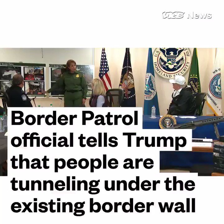 🤡@realDonaldTrump went to Texas to pitch his wall.   Border Patrol showed him that people are *already* tunneling under EXISTING walls.  Trump is holding our country hostage over a wall that WON'T WORK and #Mexico is supposed to pay for‼️  #TrumpShutdown