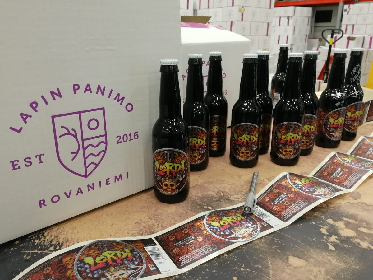 Get ready for tomorrow to have your mouth full of Lordi... Beer, that is.  Presented by Lapin Panimo There will be 100 random bottles out there that are signed by either Mr Lordi or the whole band.  Head over to https://t.co/EykoptagZM for a full list of places for purchase. https://t.co/8MZA57ihJj