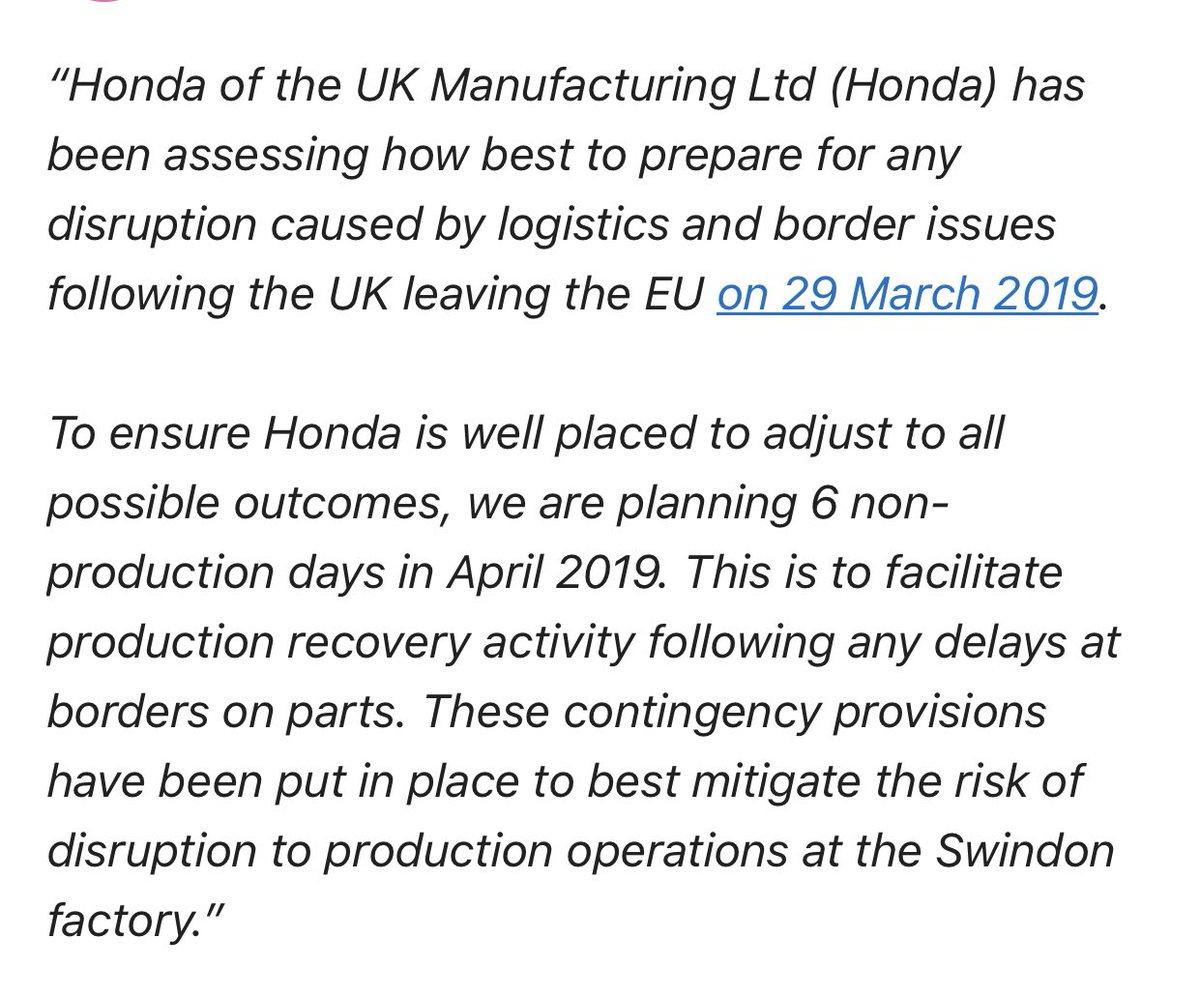 Honda closure statement
