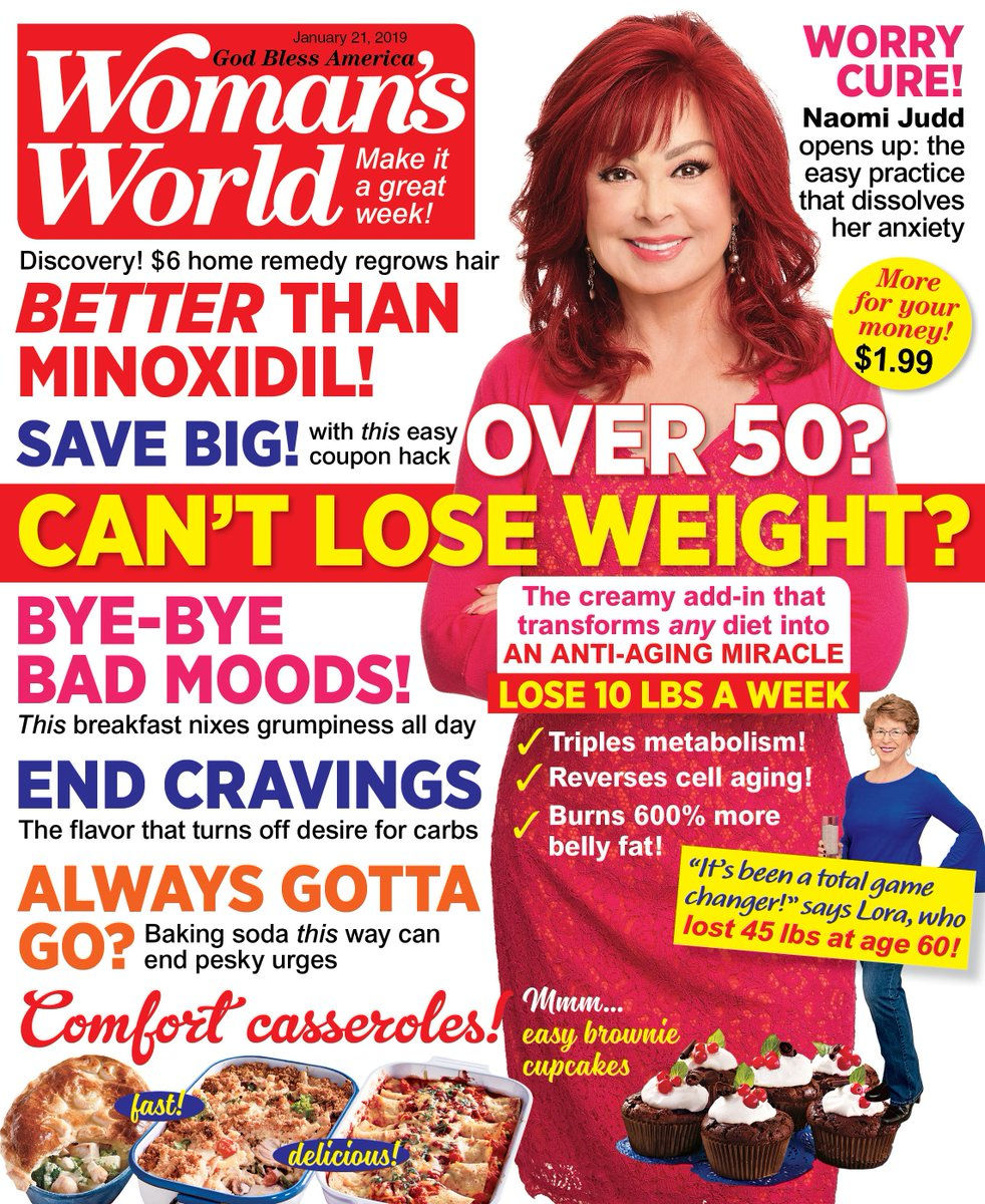 It's always fun to chat with @WomansWorldUS ! Lots of girl talk in this issue and we talk about The Judds early days. I can't believe it's been 35 years since we had our first hit!