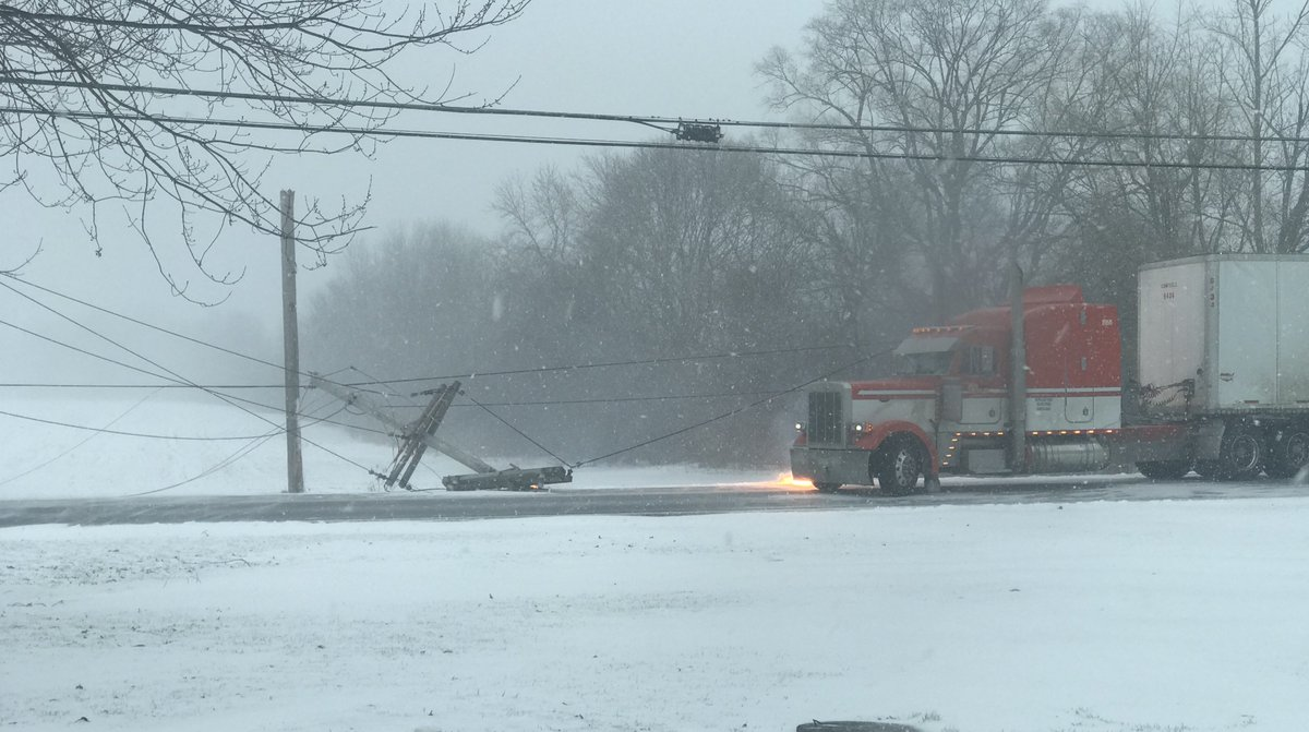 Tractor-trailer takes down power lines in Geneva (photo)