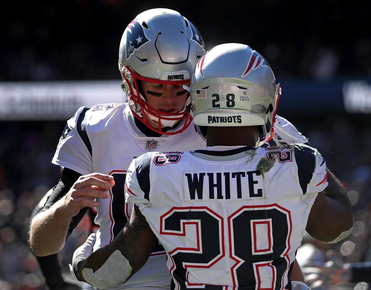 """""""I was telling Coach Belichick earlier, James White is like my oldest son. He just does everything right and you can never get mad at him. If he doesn't make the play, he feels worse about it than you do. He's just the best teammate.""""  - Tom Brady #OnWisconsin <br>http://pic.twitter.com/hJ9xOhMVtf"""