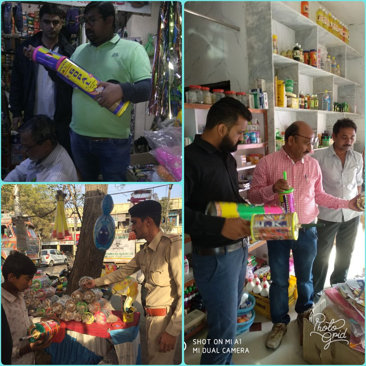 #OperationKaruna Joint ops. of teams of police and administration in #Padadhari and #Lodhika taluka to check the sell of Chinese Manjha. Special centre is operational for injured birds. Toll free #Karuna_Ambulance number-1962. @CollectorRjt  @CMOGuj  @RajkotDdo  @SP_RajkotRural
