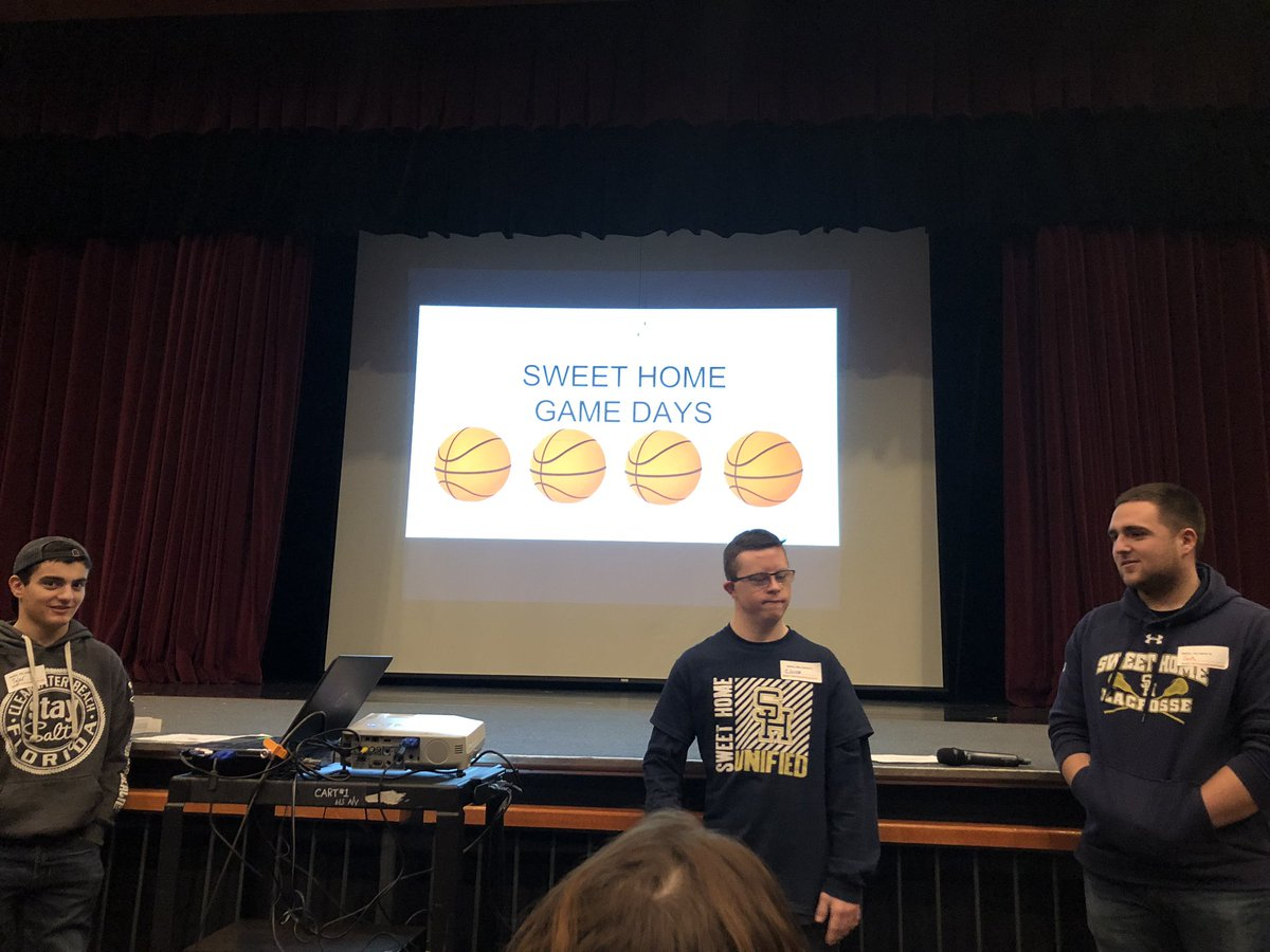 Sweet Home YAC (Unified) members presenting at the YAC Summit @SOUnifiedNY @SHCSDAthletics @