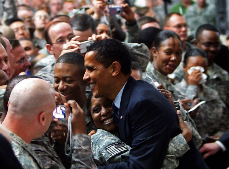 Obama is really living rent free in your head!  SAD  Look how much our military loved him!