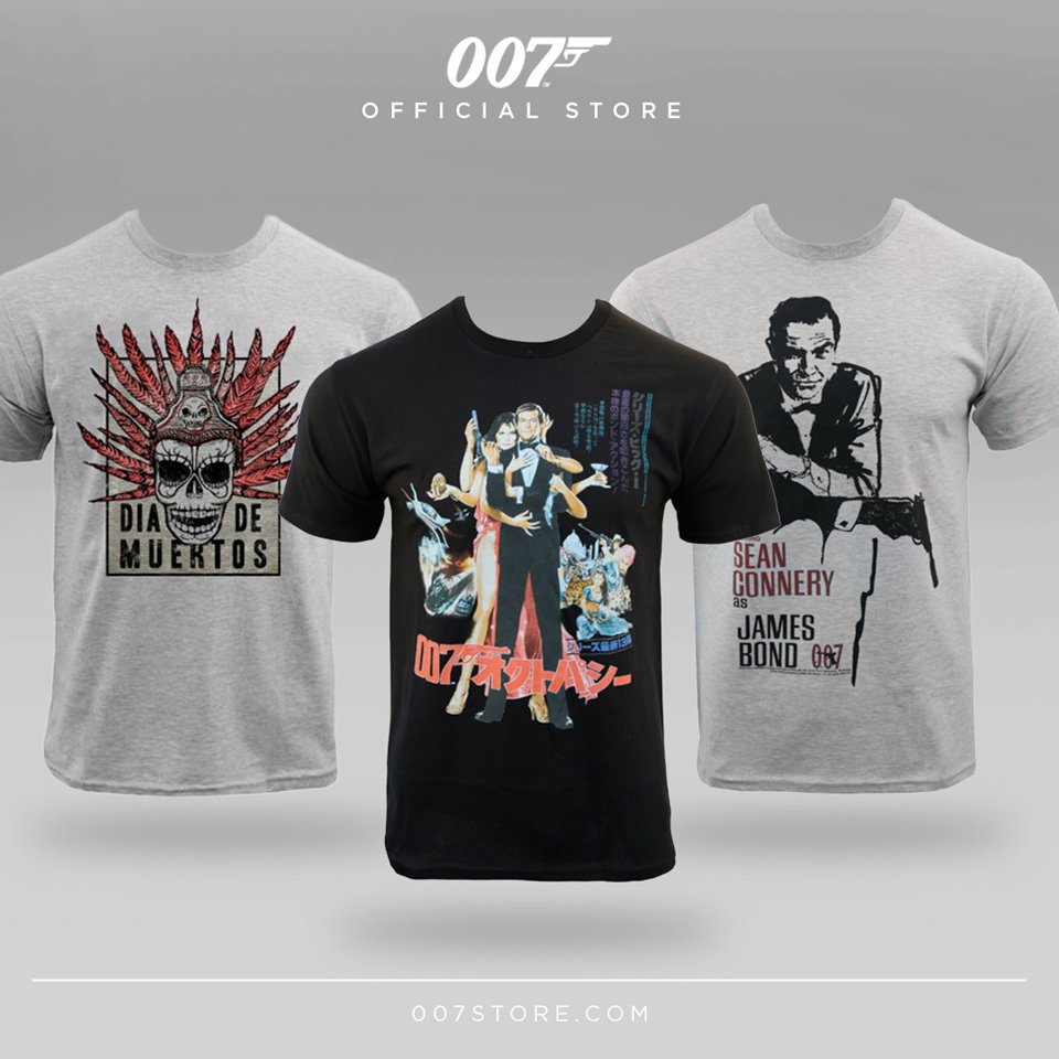 There's still 10% off all purchases with code SALES10. Find these 007 t-shirts and more at 007STORE. https://t.co/jlhkZdEgxg