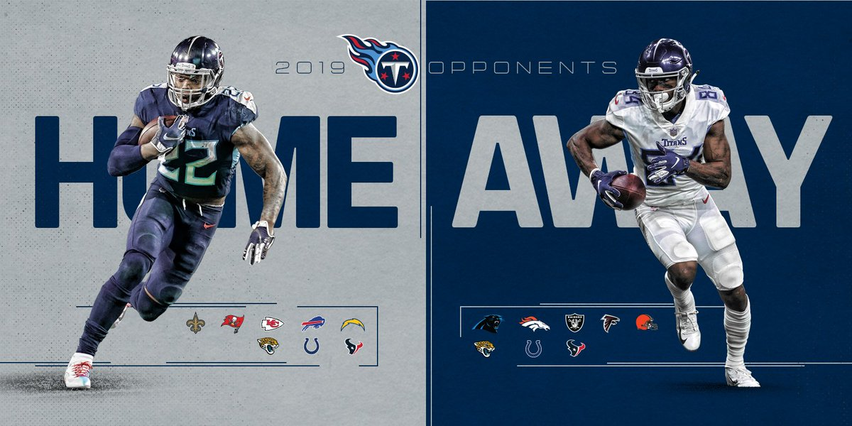 Titans Home/Away 2019 Opponents 🏈 » titanup.co/QugFwZ