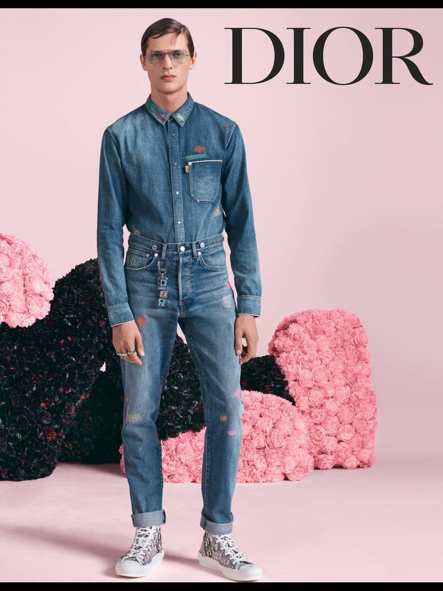 I see the 70s, just out of jail look is back. #doubledenim