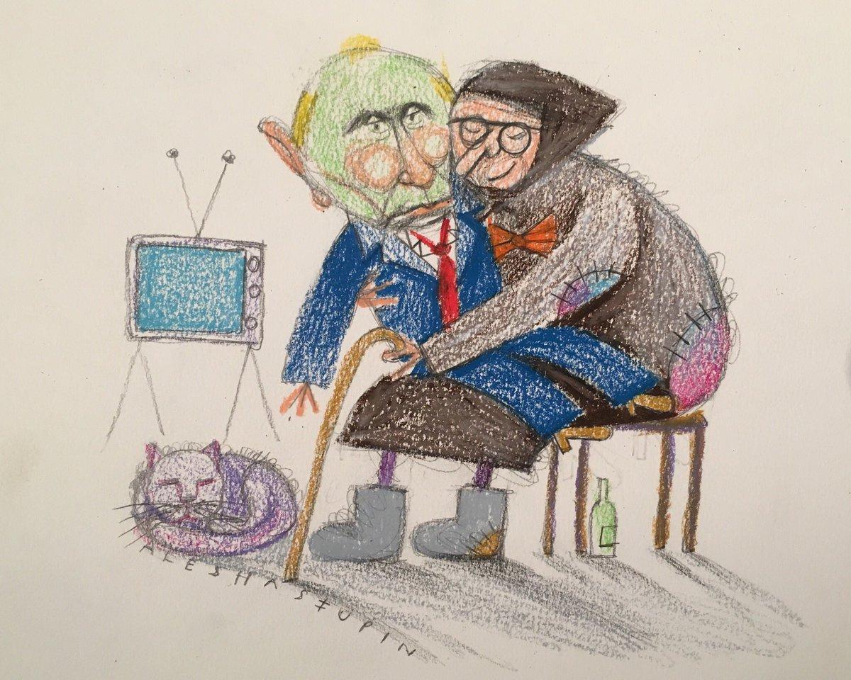 Алёша рисует Путина.