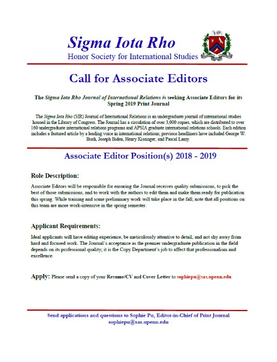 Upenn Cover Letter.Looking For Editing And Writing Experience The Sigma Iota