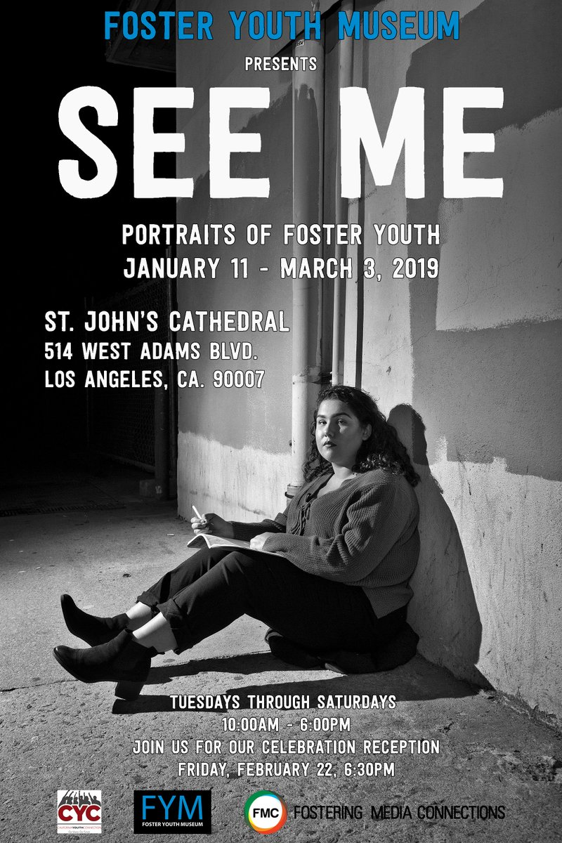 test Twitter Media - Tomorrow is the opening of @FYMuseum's LA show, See Me!! We'll put out official tour dates soon, but in the meantime go check it out Tues-Sat at St John's Cathedral. Show's portraits of young people doing amazing things includes portraits of foster youth from #fosteryouth photogs https://t.co/XctVN9k4nj