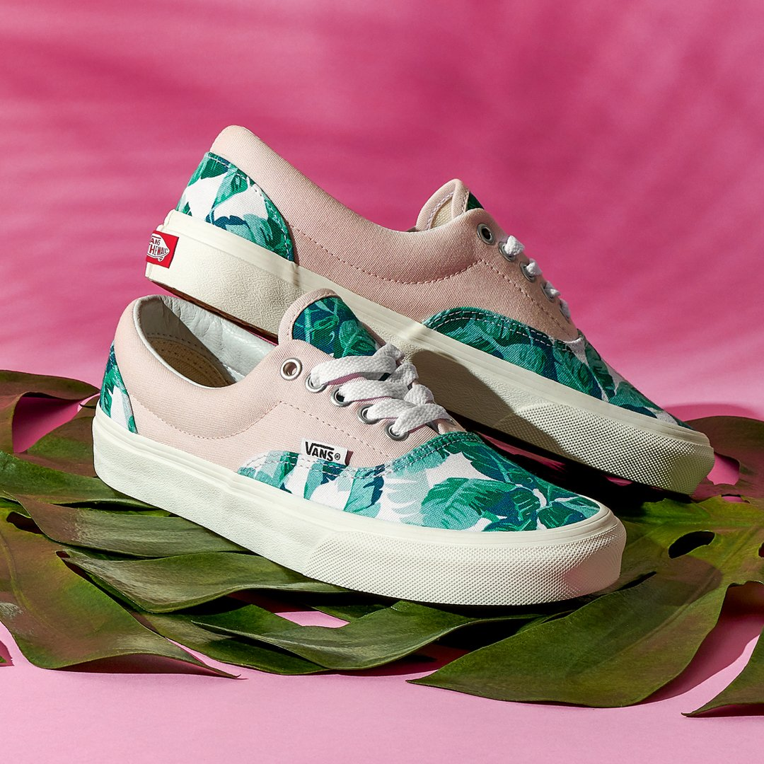 """5c47b6d606 Channel your inner plant mom  create your own Vans Customs with the new """"Leaf  Me Alone"""" print"""