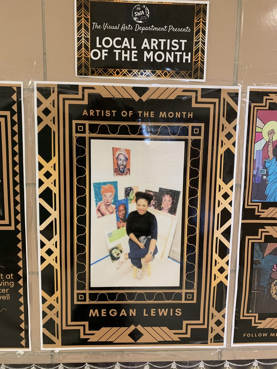 Our @SwaMagnet #ArtistOfTheMonth #MeganLewis #VisualArt #Rigor #Relevance 🎨🎓✨ – at South West Academy