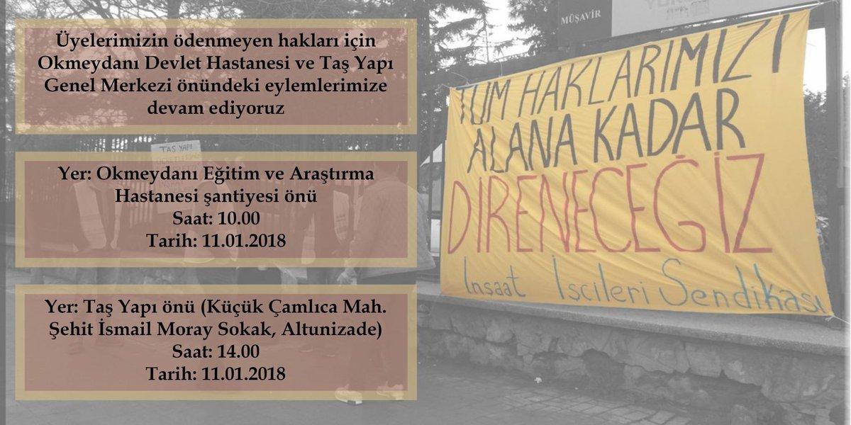 TAŞYAPI'nın gasbettiği haklarımız için başlattığımız direnişi İPKB'nin önüne de taşıyacağız!