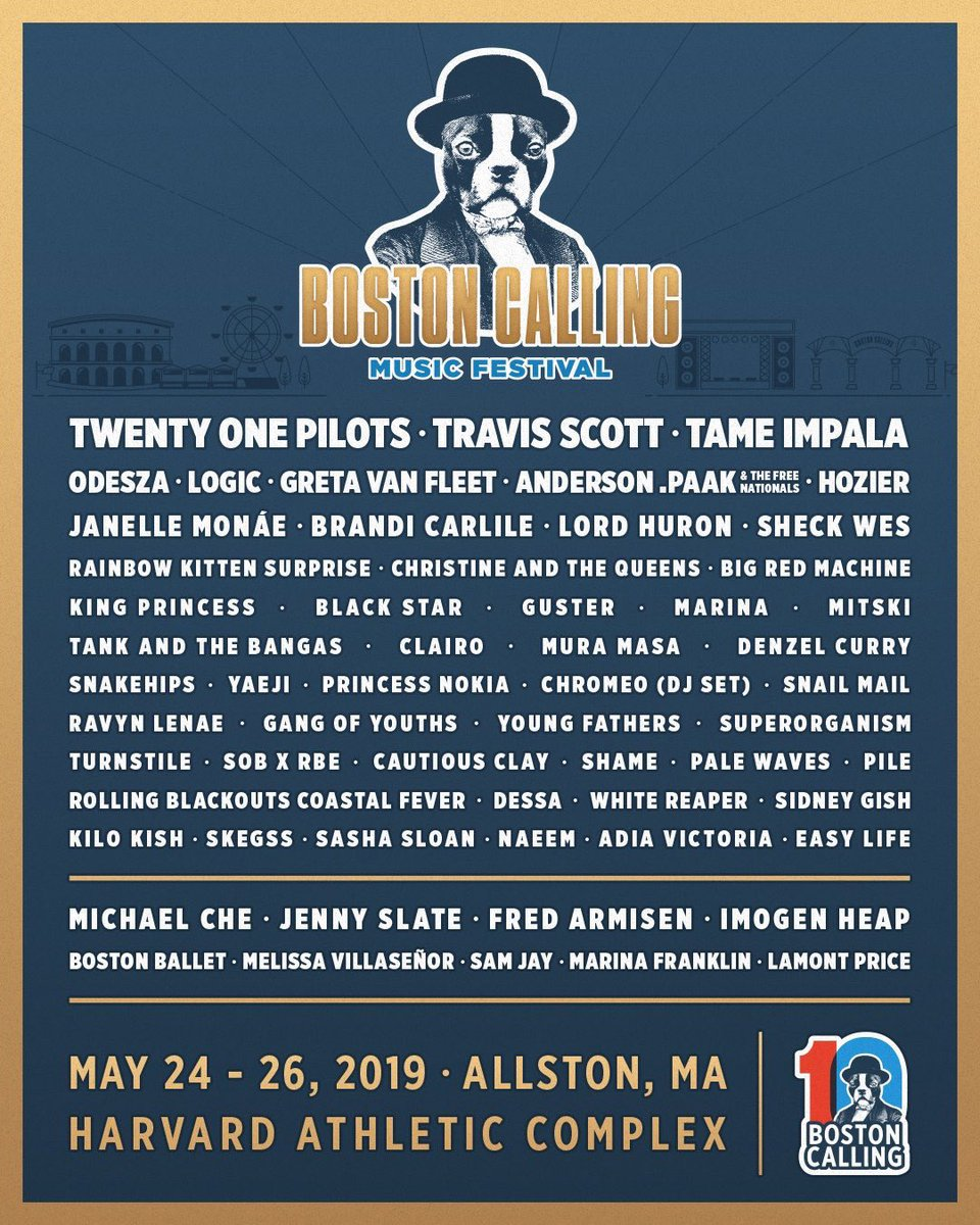 Boston Calling. You gonna answer? See ya in May, Beantown.