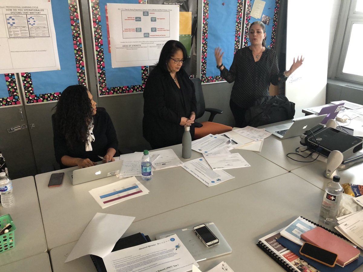 "During the monthly professional learning session school leaders engaged in a share fair. Principal Castillo and Literacy Coach Baldanza of PS 83 presented ""Building Blocks to a Data Driven Culture."" #ChampionsforChildren #SparkingImagination4Innovation https://t.co/B1mWzbatep"