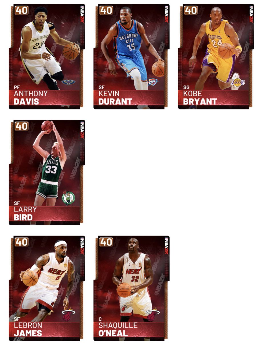 4459741e9223 ... rest are Pink Diamonds. So tomorrow we either get Anthony Davis Kevin  Durant Larry Bird Shaq My guess is they start with the lowest rated which  probably ...