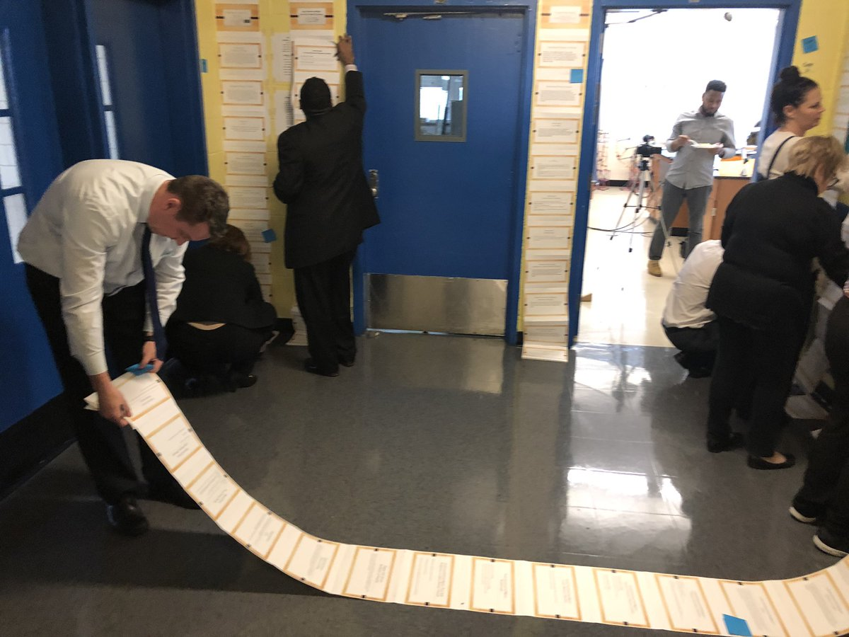 During today's professional learning, school leaders engaged in a gallery walk to review colleague's mid-year strategic plan as a method for progress monitoring. Each school was able to receive at least 3 rounds of feedback. #ChampionsforChildren #SparkingImagination4Innovation https://t.co/GnhQRnCMmo