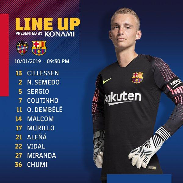 ���� Barça XI ⚽ Levante UD v FC Barcelona #CopaBarça https://t.co/azUjy8f4zx