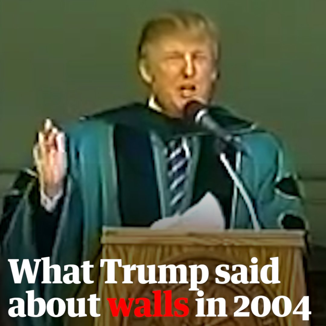 Trump had a very different view of walls in 2004. Hear what he had to say in this clip unearthed by The Daily Show. https://t.co/FErUZQWHpP
