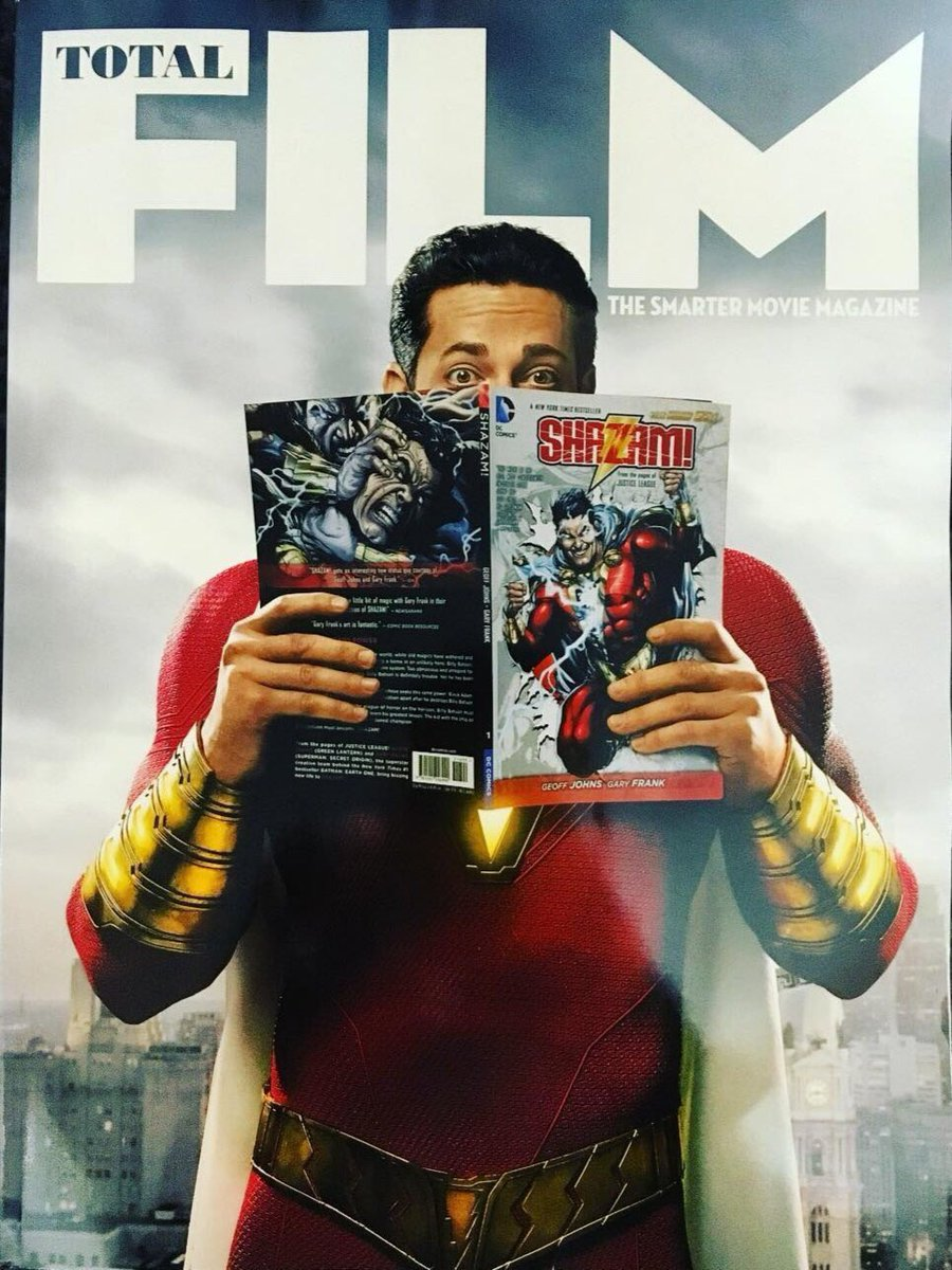 Shazam Cover for Total Film!   Black Adam tease with the @geoffjohns cover?!   7 deadly sins?   #ThursdayThoughts #Shazam <br>http://pic.twitter.com/L7Jzquulv8