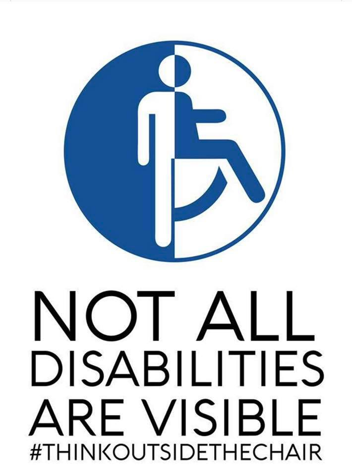 not all disabilities are visible - 710×960