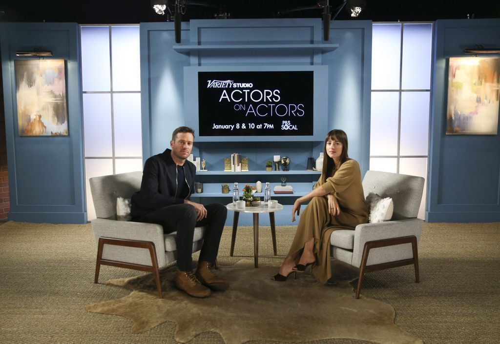 """An injured back and bleeding feet. Just your usual day at the """"office"""" if you're Dakota Johnson on the set of @suspiriamovie. Check out her conversation with @armiehammer on #ActorsOnActors at 7:30p TONIGHT on PBS SoCal 1. <br>http://pic.twitter.com/zmbjJbWzRx"""