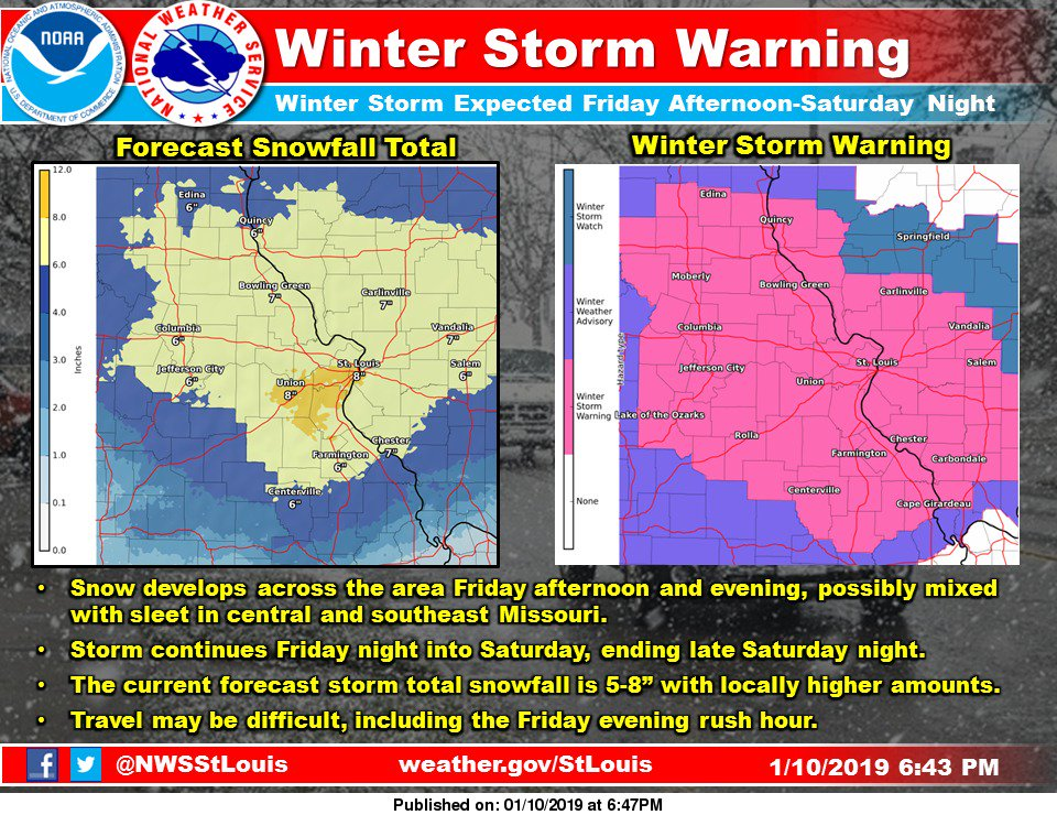 NWS St. Louis's photo on Winter Storm Warning
