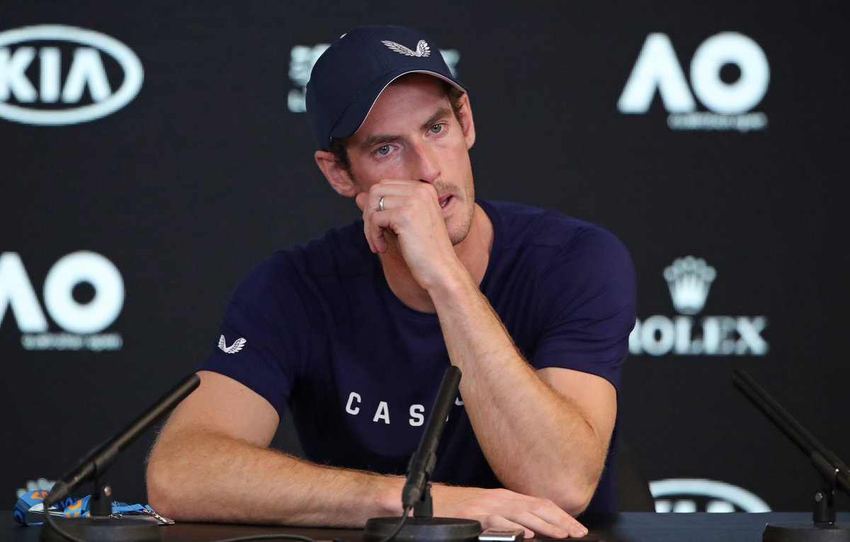 Keep fighting, @andy_murray.  The entire tennis family is behind you 🙏