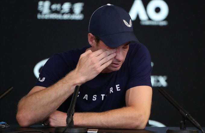 """No sólo lloras tú @andy_murray, hoy llora el tenis Anuncia que será su último #AusOpen y se retirará en @Wimbledon Puedo jugar con limitaciones. Pero aún con ello y el dolor no me dejan disfrutar de competir y entrenar"""" 😢 Photo"""