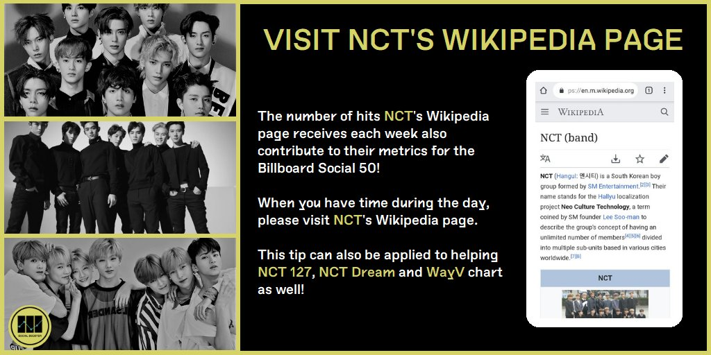 Nct Social Booster On Twitter 6 Visit Ncts Wikipedia Pages Nct