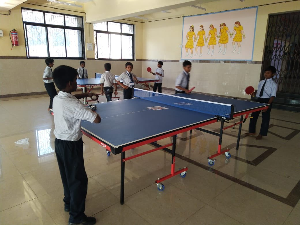 #BMCschool children playing table tenis at Worli Seaface Municipal School <br>http://pic.twitter.com/VdCinwzvWC