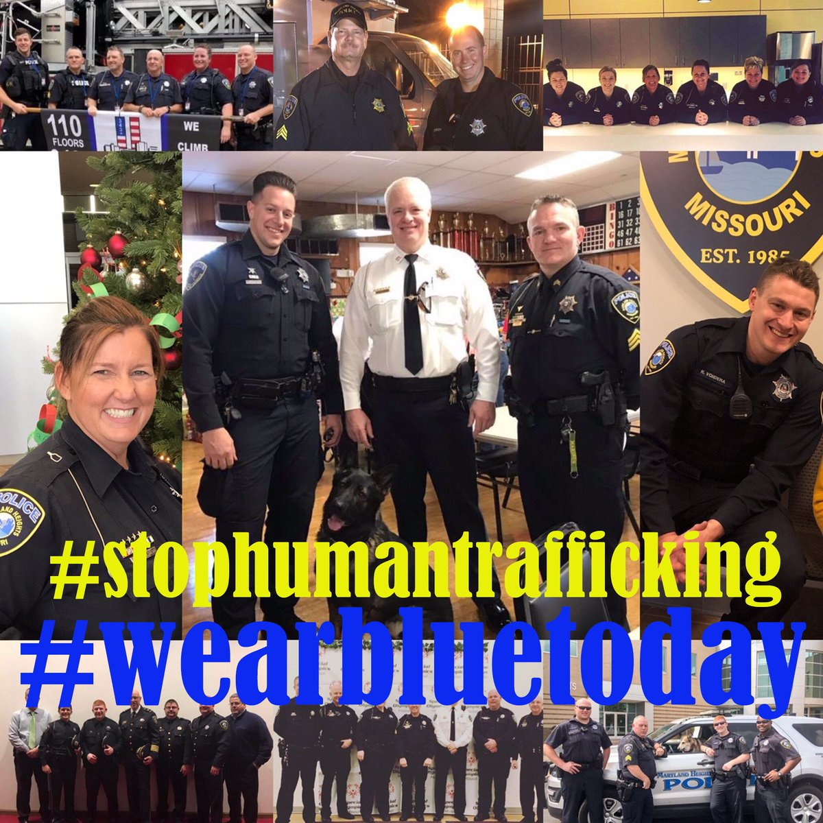 Maryland Heights PD's photo on #WearBlueDay